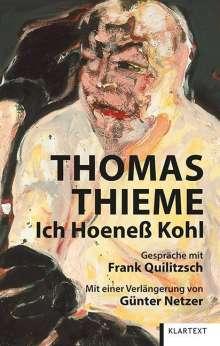 Thomas Thieme: Ich Hoeneß Kohl, Buch