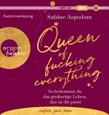 Sabine Asgodom: Queen of fucking everything, MP3-CD