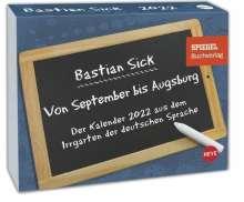 Bastian Sick: Bastian Sick Tagesabreißkalender 2022, Kalender