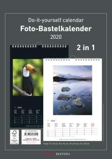Foto-Bastelkalender 2020 s/w datiert, Diverse