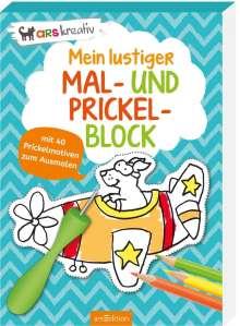 Mein lustiger Mal- und Prickel-Block, Buch