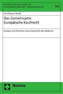 Eva Ghazari-Arndt: Das Gemeinsame Europäische Kaufrecht, Buch