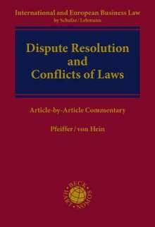 Dispute Resolution and Conflict of Laws, Buch