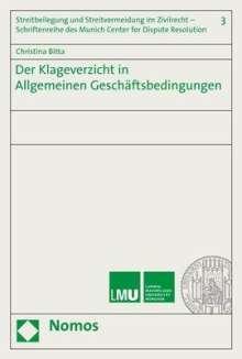Christina Bitta: Der Klageverzicht in Allgemeinen Geschäftsbedingungen, Buch