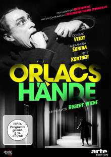 Orlacs Hände, DVD