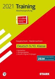 STARK Training Abschlussprüfung Hauptschule 2021 - Deutsch 9./10. Klasse - Niedersachsen, 1 Buch und 1 Diverse