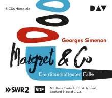Georges Simenon: Maigret & Co - Die rätselhaftesten Fälle, 5 CDs