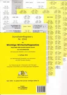 Thorsten Glaubitz: DürckheimRegister® Wichtige Wirtschaftsgesetze, Buch
