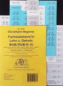 DürckheimRegister® - Fachassistent LOHN U GEHALT(ArbR-SGB) Nr. 2733 (2020), Buch