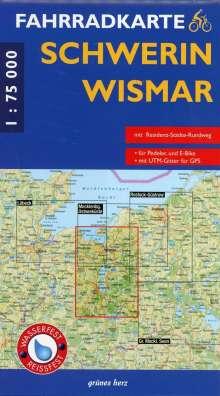 Fahrradkarte Schwerin - Wismar 1 : 75 000 Fahrradkarte, Diverse