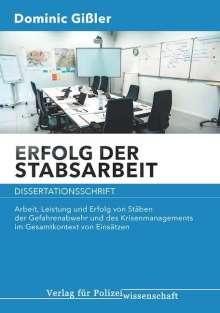 Dominic Gißler: Erfolg der Stabsarbeit, Buch