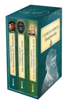 Charles Darwin: Charles Darwin Hauptwerke: 3 Bände im Schuber, Buch