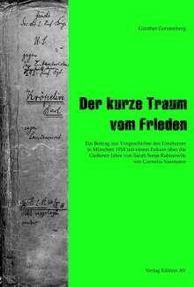 Günther Gerstenberg: Der kurze Traum vom Frieden, Buch
