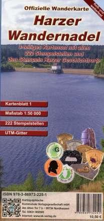 Harzer Wandernadel. 3 teiliges wetterfestes Kartenset 1 : 50 000, Diverse