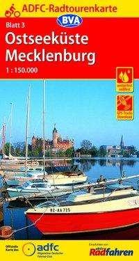 ADFC-Radtourenkarte 03 Ostseeküste. Mecklenburg 1 : 150 000, Diverse