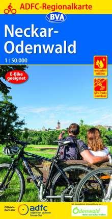ADFC-Regionalkarte Neckar-Odenwald, 1:50.000, reiß- und wetterfest, GPS-Tracks Download, Diverse