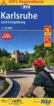 ADFC-Regionalkarte Karlsruhe und Umgebung,1:50.000, reiß- und wetterfest, GPS-Tracks Download, Diverse