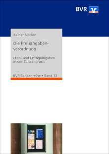 Rainer Siedler: Die Preisangabenverordnung, Buch
