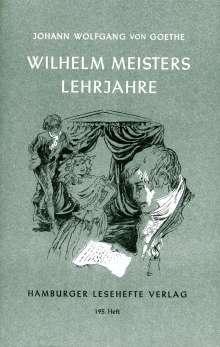 Johann Wolfgang von Goethe: Wilhelm Meisters Lehrjahre, Buch