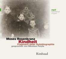 Moses Rosenkranz: Kindheit - Hörbuch, MP3-CD, Buch