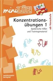 Heiner Müller: miniLÜK. Konzentrationsübungen 1, Buch