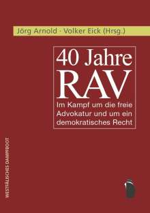 40 Jahre RAV, Buch