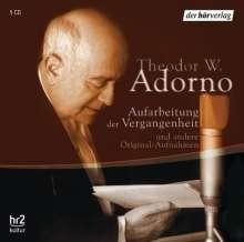Theodor W. Adorno: Aufarbeitung der Vergangenheit  5 CDs, CD