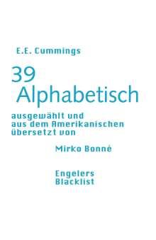 E. E. Cummings: 39 Alphabetisch, Buch