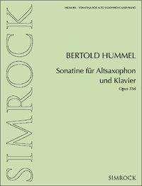 Sonatine für Altsaxophon und Klavier, Buch