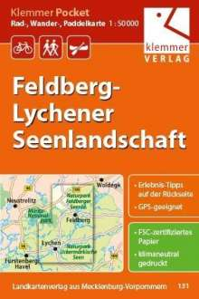 Christian Kuhlmann: Klemmer Pocket Rad-, Wander- und Paddelkarte Feldberg - Lychener Seenlandschaft 1 : 50 000, Diverse