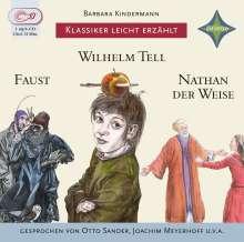Barbara Kindermann: Weltliteratur für Kinder: 3-er Box Deutsche Klassik: Faust, Wilhelm Tell, Nathan der Weise, 3 CDs