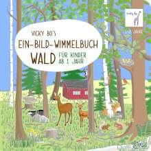Vicky Bo: Vicky Bo's Ein-Bild-Wimmelbuch für Kinder - Wald, Buch