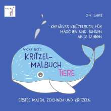 Vicky Bo: Vicky Bo's Kritzel-Malbuch - Tiere, Buch