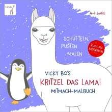Vicky Bo: Kritzel das Lama! Mitmach-Malbuch 4-6 Jahre. Schütteln, pusten, malen, Buch