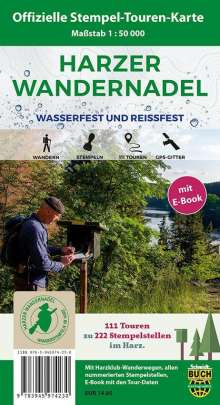 Schmidt Thorsten: Harzer Wandernadel 1 : 50 000, mit E-Book, Diverse