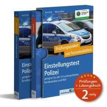 Kurt Guth: Einstellungstest Polizei: Prüfungspaket mit Testsimulation, 2 Bücher