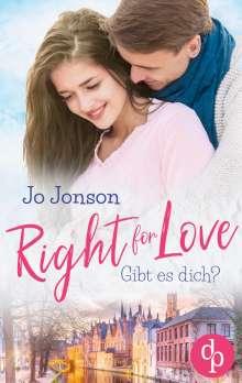 Jo Jonson: Right for Love, Buch