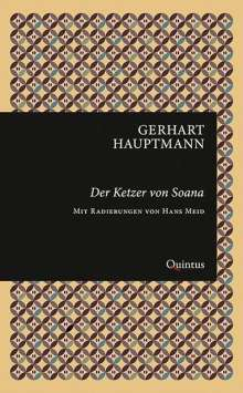 Gerhart Hauptmann: Der Ketzer von Soana, Buch