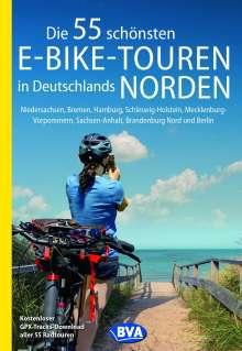 Oliver Kockskämper: Die 55 schönsten E-Bike-Touren in Deutschlands Norden, Buch