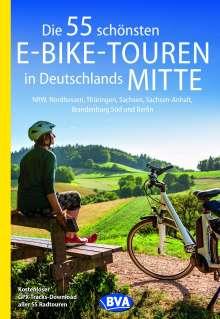 Oliver Kockskämper: Die 55 schönsten E-Bike-Touren in Deutschlands Mitte, Buch
