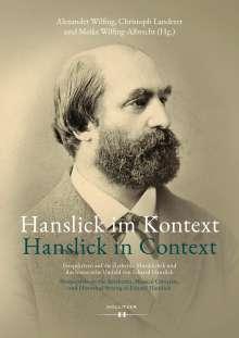 Alexander Wilfing: Hanslick im Kontext / Hanslick in Context, Buch