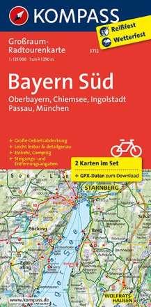 Bayern Süd, Oberbayern, Chiemsee, Ingolstadt, Passau, München 1:125 000, Diverse