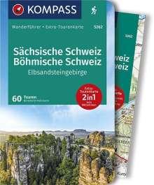 Bernhard Pollmann: KOMPASS Wanderführer Sächsische Schweiz, Böhmische Schweiz, Elbsandsteingebirge, Buch