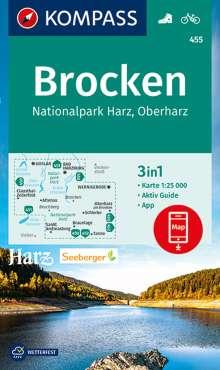 KOMPASS Wanderkarte Brocken, Nationalpark Harz, Oberharz 1:25 000, Diverse