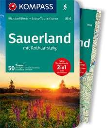 Sylvia Behla: Sauerland mit Rothaarsteig mit Karte, Buch