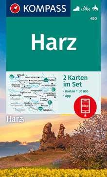 KOMPASS Wanderkarte Harz 1:50 000, Diverse