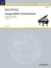 Johann Kuhnau: Ausgewählte Klavierwerke, Noten