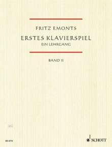 Fritz Emonts: Erstes Klavierspiel II, Noten