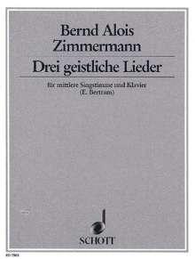 Drei geistliche Lieder (1946), Noten