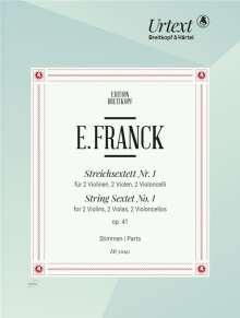 Eduard Franck: Streichsextett Nr. 1 op. 41, Noten